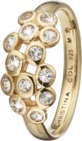 Кольцо CC 800-3.13.B/49 Champagne Lovegold pl