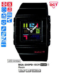 Часы CASIO BGA-200PD-1BER - Дека