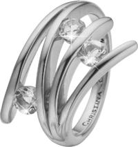 Кольцо CC 800-4.1.A/61 Balance Love silver  - Дека