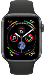Смарт-часы Apple Watch Series 4 44mm Space Grey Aluminium Case with Black Sport Band — Дека