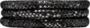 Christina Charms Watch cord set, SILVER BLACK,16mm, steel