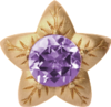 Christina Charms rings - amethyst flower 650-G05